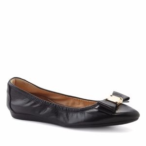 Cole Haan Black Bow Leather Flats